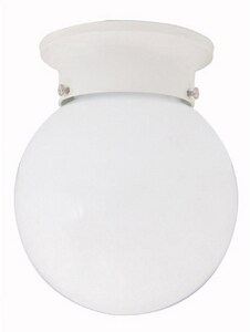 Capital Lighting Fixture 60 W 1-Light Flush Mount Ceiling Fixture in White C5569WH