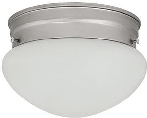 Capital Lighting Fixture 4 x 7 in. 60 W 1-Light Medium Flush Mount Ceiling Fixture with White Glass in Matte Nickel C5356MN