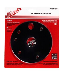 Milwaukee Center Hole Sub-Base for Milwaukee 5615-29 (SER 279B) Router M49541040