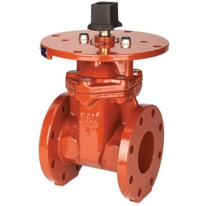 Nibco 250 psi Ductile Iron Flanged Resilient Wedge Non-Rising Stem Gate Valve NF609RW