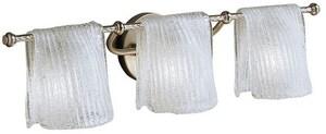 Kichler Lighting Drapes 26-1/2 in. 60 W 3-Light Candelabra Bracket in Brushed Nickel KK6313NI