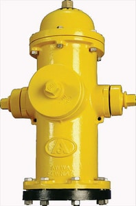 American Flow Control 6 in. B62B Mechanical Hoint Hydrant Bury with Left Opening Less Accessories AFCB62BUMJLAOL10