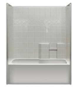 Hamilton Bathware Millennia 60 x 30 in. Millenia Tub and Shower in White HM3360TSTILEWH