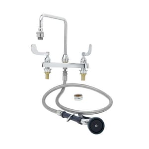 T&S Brass Pot Filler with Double Wristblade Handle TB2346