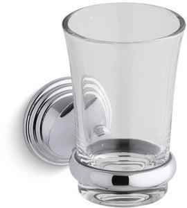 Kohler Devonshire® Glass and Metal Wall Mount Tumbler and Holder K10561