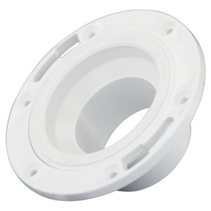 Charlotte Pipe & Foundry 4 in. PVC DWV Adjustable Spigot Closet Flange with Ring PDWVCFASRPP