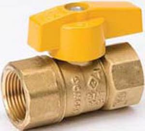 B & K Industries Brass Gas Ball Valve with Lever Handle B11012HC
