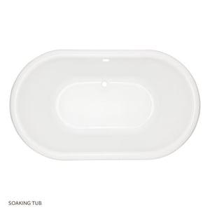 Mirabelle Boca Raton® 72 x 42 x 22 in. Acrylic Oval Bath Tub MIRBRS7242V
