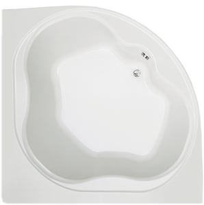 Mirabelle® St Augustine® 60 x 60 in. Acrylic Corner Left Hand Air Bath with Skirt MIRSAA6060L