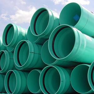 PVC Gasket Joint Pipe in Green DR18GP