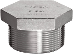 Threaded Galvanized Forged Steel HEX Head Plug GFSTHP