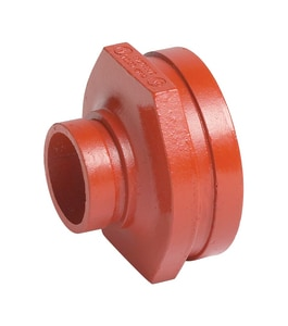 Victaulic Style 50 5 x 3 in. Grooved Painted Concentric Reducer VFE09050P00
