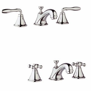 Grohe Seabury™ 3-1/4 in. 1.2 gpm 3-Hole Lavatory Faucet with Double Lever Handle G20800