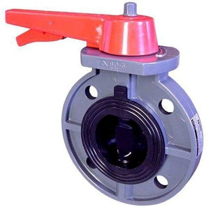 FNW 150 psi PVC Viton Butterfly Valve Lever Operator FNW721V