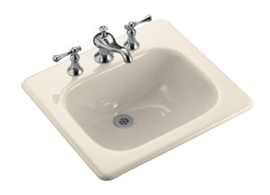 Kohler Tahoe® 3-Hole Rectangular Drop-In Bathroom Sink with 8 in. Widespread K2895-8