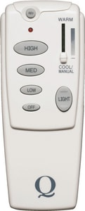 Quorum International Reversible with Down Light Remote in White Q714010