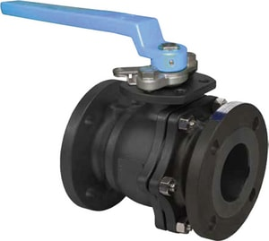 FNW Stainless Steel Flanged 2-Piece Full Port Ball Valve with Locking Lever Handle FNW601A
