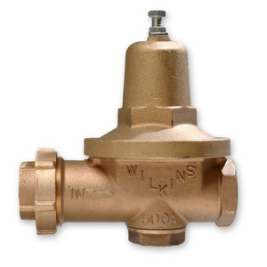 Wilkins Regulator 500 Series 5-1/8 in. 125 psi Union Bronze Pressure Reducing Valve W500HLR