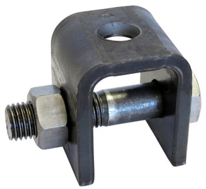Anvil Carbon Steel Weld Beam Attachment with Nut Black GB66WN