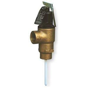 Cash Acme 150 psi Temperature and Pressure Relief Brass Valve CFVMX5C
