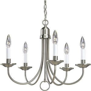Progress Lighting Five Light 16 in. 60W 5-Light Candelabra E-12 Chandelier PP4008