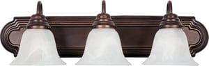 Maxim Lighting International Essentials 7 in. 3-Bulb Bath Light in Oil Rubbed Bronze M8013MROI
