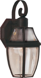 Maxim Lighting International South Park 13-1/2 x 7 in. 60W 1-Light Outdoor Wall Lantern M4011CL