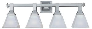 Maxim Lighting International Brentwood 6-1/2 in. 100 W 4-Light Medium Bracket in Satin Nickel M11079FTSN