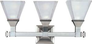 Maxim Lighting International Brentwood 9-1/2 x 6-1/2 in. 100 W 3-Light Medium Bracket in Satin Nickel M11078FTSN