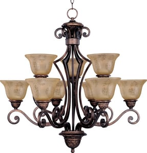Maxim Lighting International Symphony 9-Light Chandelier in Oil Rubbed Bronze M11245SAOI