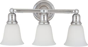 Maxim Lighting International Bel Air 10 x 7 in. 100 W 3-Light Medium Bracket in Polished Chrome M11088WTPC