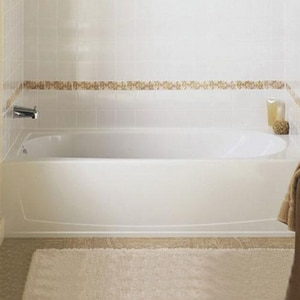 Sterling Plumbing Group Performa™ 17-1/4 in. Left-Hand Above Floor Drain Bath Tub S71041112