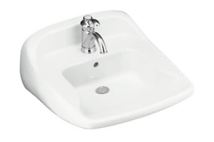 Sterling Plumbing Group Worthington 3-Hole Wall Mount Oval Lavatory Sink S4420310