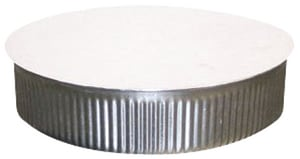 Northwest Metal Products 6 in. 24 ga Round Crimped End Cap N323563