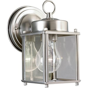 Progress Lighting Flat Glass Lantern 100W 1-Light Medium E-26 Wall Lantern PP5607