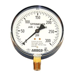 Allied Rubber & Gasket Fire Air Water Pressure Gauge A6510160