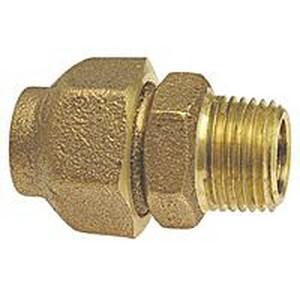Flared x Male Cast Copper Adapter CCFLMA