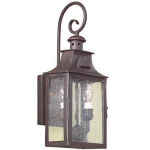 Troy-CSL Lighting Newton 60 W 2-Light Outdoor Lantern TBCD9001OBZ