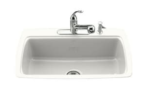 Kohler Cape Dory® 4-Hole 1-Bowl Tile-In Kitchen Sink K5864-4