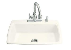 Kohler Cape Dory® 2-Hole Single Bowl Cast Iron Drop-In Kitchen Sink K5863-2