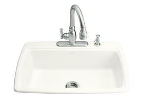 Kohler Cape Dory® 3-Hole Single Bowl Cast Iron Kitchen Sink K5863-3