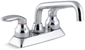 Kohler Coralais® Double Lever Handle Faucet in Polished Chrome K15270-4-CP