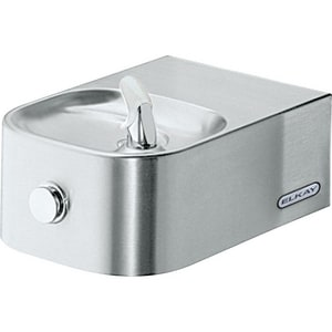 Elkay Soft Sides® Wall Mount Push Button Freeze Resistant Drinking Fountain Kit EEDFP214FPK