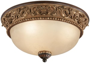 Minka Belcaro™ 7-1/4 x 15-1/4 in. 60 W 3-Light Medium Flush Mount Ceiling Fixture M959126