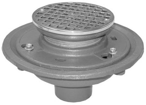 Wade 2 in. Ty-Seal Floor Drain with 5 in. Strainer Nickel Bronze W1102TYSTD51