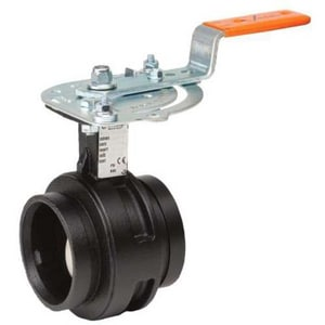 Victaulic Series 761 12 in. Ductile Iron EPDM Lever Handle Butterfly Valve VV120761SE2-NR