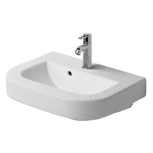 Duravit USA Happy D 1-Hole Wall Hung Bathroom Lavatory Sink in White Alpin D0417600000