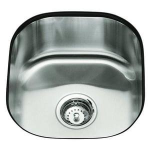Kohler Undertone® 15-1/2 x 17-1/8 x 7-5/8 in. Rounded Under-Mount Single-Bowl Kitchen Sink K3336-NA