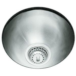 Kohler Undertone® 13-5/8 Diameter X 5-1/2 In. Under-Mount Single Circular Bowl Kitchen Sink K3339-NA