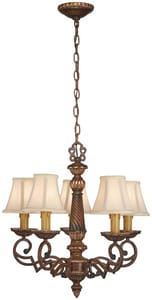 Minka Belcaro 22-1/2 in. 60 W 5-Light Candelabra Chandelier M955126